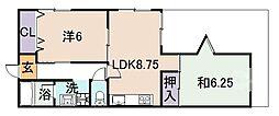 ネオハイム山本[105号室]の間取り
