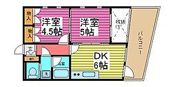 埼玉県戸田市川岸3丁目の賃貸マンションの間取り