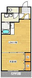 リバティエアコート[3階]の間取り