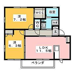 メゾン久 A棟[2階]の間取り