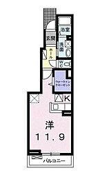 千葉県市川市妙典3丁目の賃貸アパートの間取り