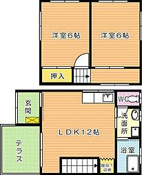 セジュール E棟[2階]の間取り