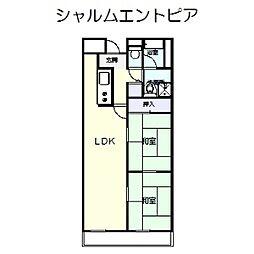 シャルムエントピア[3階]の間取り