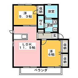 セレーノ I・II[2階]の間取り