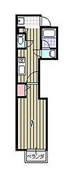 北大路テンビル[3階]の間取り