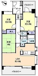 ラ・フォレ21[4階]の間取り