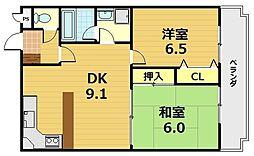 グランデュール桃山[1階]の間取り