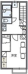 レオパレス新逆井[2階]の間取り