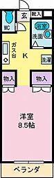 アパートメントSY[105号室]の間取り
