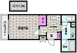 兵庫県神戸市東灘区田中町3丁目の賃貸マンションの間取り