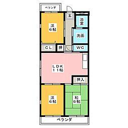 ラフィネI[4階]の間取り