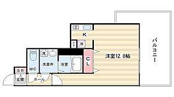 スワンズ京都セントラルシティ[101号室]の間取り