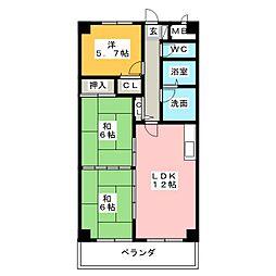 ビューコートソーワ[3階]の間取り