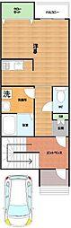 京阪本線 枚方市駅 バス12分 都ケ丘下車 徒歩3分の賃貸アパート 1階ワンルームの間取り
