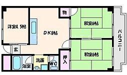 ハイツオークラ[4階]の間取り
