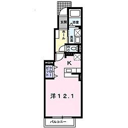 サンアプローズ[1階]の間取り