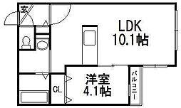 ガーデンハウス菊水[5階]の間取り