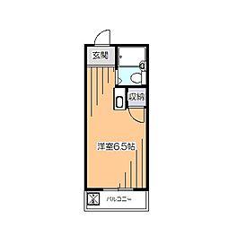 東京都小平市小川西町1丁目の賃貸アパートの間取り