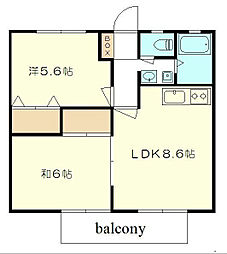ビーライン60[2階]の間取り
