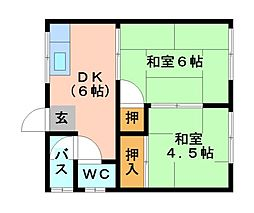 愛知県北名古屋市西之保青野東の賃貸アパートの間取り