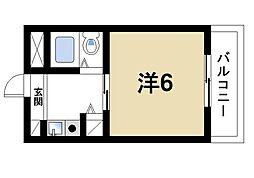 シティパレス21西大寺P-I[2階]の間取り