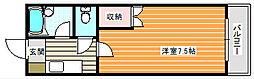 アベニュー西住之江[5階]の間取り