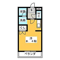 川越ガーデンテラス[1階]の間取り