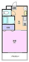 メゾン小宮[3B号室]の間取り