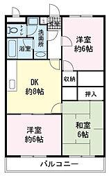 静岡県伊豆の国市寺家の賃貸マンションの間取り
