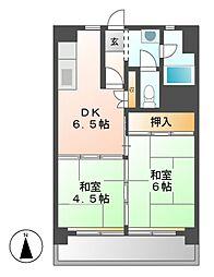 中駒九番団地3号棟[7階]の間取り