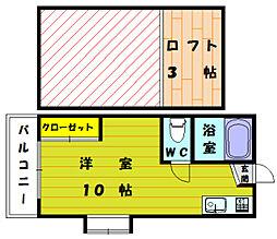 シティーベールYAMANA[1階]の間取り