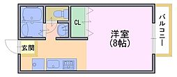 ルネットAdachi[302号室]の間取り