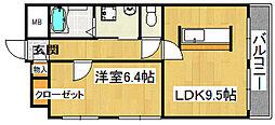 野崎マンション[2階]の間取り