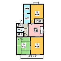 フォレストK A棟[2階]の間取り