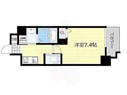 PLAICZ SHIN-OSAKA(旧FDS adorable) 4階1Kの間取り