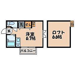 ディノ江里町[103号室]の間取り