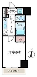 東京都江東区新大橋2丁目の賃貸マンションの間取り