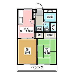 サンガーデン藤和A棟[2階]の間取り