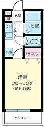 神奈川県川崎市高津区下作延2の賃貸アパートの間取り