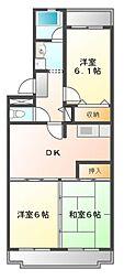 ロイヤルグリーン八千代[1階]の間取り