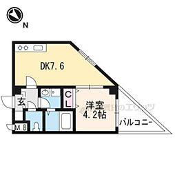 JR東海道・山陽本線 茨木駅 徒歩14分の賃貸アパート 1階1LDKの間取り