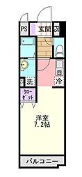 埼玉県さいたま市大宮区吉敷町2丁目の賃貸マンションの間取り