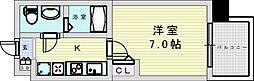 阪急宝塚本線 三国駅 徒歩5分の賃貸マンション 5階1Kの間取り