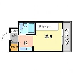 MLA香里園I.II[2階]の間取り