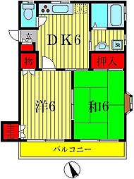 榎本アパート[2階]の間取り