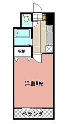KMマンション八幡駅前[504号室]の間取り