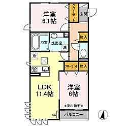 仮称)D−room神大寺4丁目A[2階]の間取り