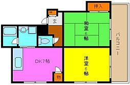 サンライフ若江東[1階]の間取り