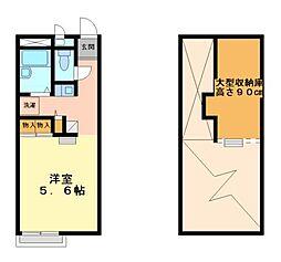 兵庫県姫路市網干区大江島寺前町の賃貸アパートの間取り
