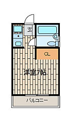 ゆたかハイツ[2階]の間取り